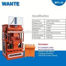 WT1-10 best price for africa interlocking clay block machine price