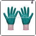Des gants en latex fabricants, nylon gants en nitrile