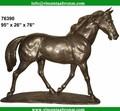 bonne qualité garden sculpture cheval sculpture en bronze antique