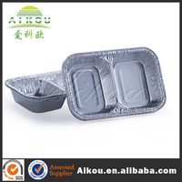 microwaveable safe box disposable aluminum silver tray for take away