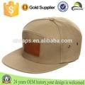 Personalizado parche de piel logo snapback sombreros venta al por mayor