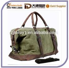large vintage Men Military canvas travel bag luggage Bag Tote
