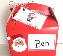 Personalised Father Christmas Santa Childrens Activity Gift Box Pack Party Bag