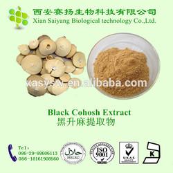 high quality black cohosh p.e/black cohosh root p.e/pure black cohosh extract