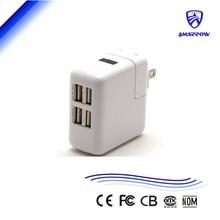 Portable USB Wall Charger 4 USB Port 5v 2.4a