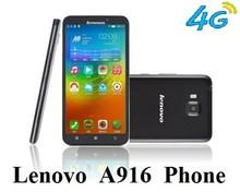 Lenovo A916 phone 1GB RAM+8GB ROM octa-core 1.4GHz CPU 5.5 inch HD IPS screen dual sim card 13.0MP camera with Flash