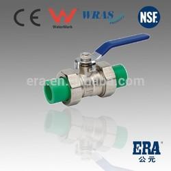 100% New Material PPR true union brass ball cock valve