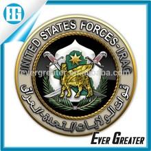 2014 Zinc alloy gold military emblem,military metal emblems,military insignia emblem