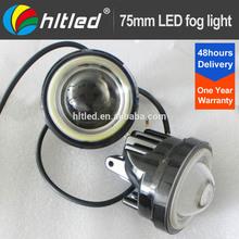 super brightness fog lamp led, 75mm fog light with White/Blue/Green/Red/Yellow/Purple angel eyes