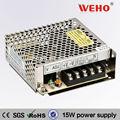 Ca s-15-15/de alimentación de cc supplies15v 1a 15w led fuente de alimentación de conmutación