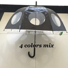 NU-123 New 2014 Wholesale Factory Supply Best Selling Special Design Straight Umbrella Creative Transparent Umbrella