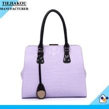 hot sale ladies fashion bag paint leather quality handbag guangzhou