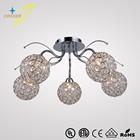 GZ20450-5C 5*G9 source iron crystal lighting ul&ce ceiling lamp fixture