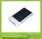 elegant design 4000 mAh dual usb portable solar panel power bank for iPhone 6 &ipad