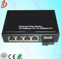 10m/100m/1000m 4- puerto de fibra óptica convertidor de medios de comunicación, red de fibra óptica interruptores