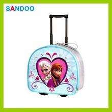Frozen roller backpack bag cheap trendy kids school bag with wheels for girls