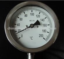 the temperature pressure gauge 100mm