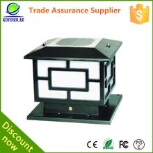 high quality antique solar pillar lamp for garden