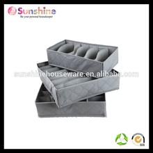 Household Essentials bamboo natural fiber Storage Boxes bra and underwear organizer