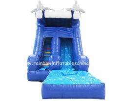 Super jumbo water slide inflatable, giant inflatable water slide for adult