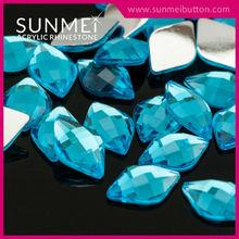 Shiny Flat Back Diamond Shaped Acrylic Loose Stones