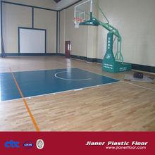 Wooden Basketball PVC Flooring