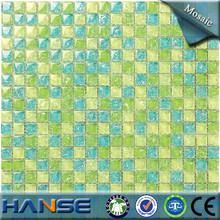 PY027 interior decoration green blue designer glass mosaic handicraft