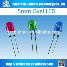 2015 hot oval High brightness 5mm oval led