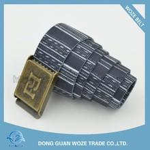New Arrival Stripe Men's Polyester Web Belts