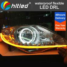 White/ yellow 12 V LED Daytime Running Light Waterproof Flexible led drl
