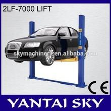 New china products for sale 2LF-7000 hydraulic lift column fog car lift damaged cars
