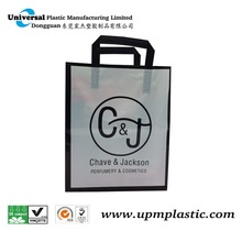 flat tape square bottom plastic shopping bags for sale