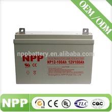 12V 100AH Rechargeable Storage SMF Sealed Lead Acid Solar AGM Battery 12V 100AH