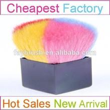Specail colorful makeup kabuki brush with Powder Brush square plastic handle