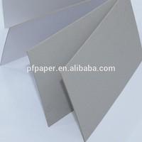 FSC smooth and hard stiff grey paper board for folder
