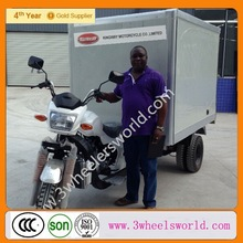 2014 China 200cc Motor Tricycle with Closed Fridge Cooling Cargo Box/Three wheel motorcycle /motor three wheeler