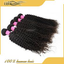 2015 LUKE Best Sale Thick Virgin Hair Wavy Style Cheap Brazlian Virgin Hair Extension Afro kinky Curly Hair