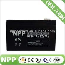 12V 7AH China Supplier VRLA MF Solar UPS 12V 7AH 20HR Battery