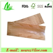 Microporous transparent window bread packaging