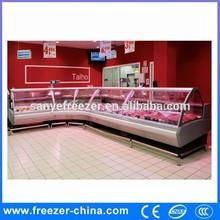 Chinese manufacturer sliding glass door meat/deli food display case for sale