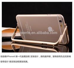 FL2580 New design aluminum stand bumper phone case for iphone 6