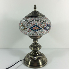 2015 New Design home decorative (TC1L01-4) glass material Handmade Mosaic Art Turkish table Lamps