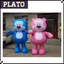 2015 Heated giant inflatable bear christmas,cheap inflatable teddy bear