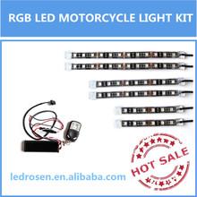 RGB LED Motorcycle Lighting BLUE/RED/GREEN/WHITE Neon Glow Lights Strips Kit