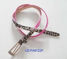 2014 LD-FA9122F New Design Pink Leopard Grain Women's Artificial Leather Belt