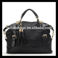 customized double buckle python bag designer snake skin bag
