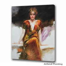 Beautiful girl portrait oil painting for home decoration
