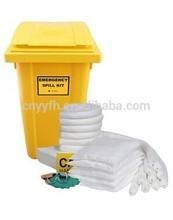 YEY 120 Liter Wheely Bin Oil Spill Kit/ Oil Spil Equipment for Oil Spill Emergency Response