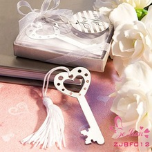 Unique Wedding Souvenir Party Favors and Gifts-Book Lovers Collection Key Metal Bookmark Favors