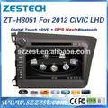Voiture de navigation gps pour honda civic 2012 zt-h8051 conduite à gauche